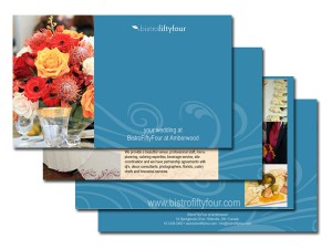 Bistrofiftyfour Wedding Flyer – Blue