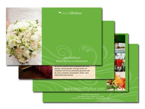 Bistrofiftyfour Wedding Flyer – Green