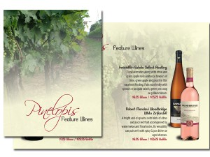 Pinelopi's Feature Wine Menu