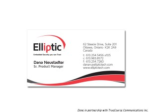 Elliptic Business Card