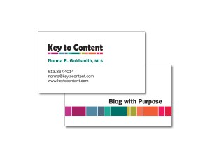 Key to Content Business Cards